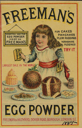 Advert for Freeman's Egg Powder